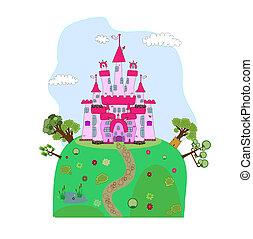 illustration of a magic castle