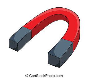 magnet - illustration of a magnet on a white background