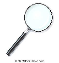 magnifying lens - illustration of a magnifying lens over...