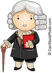French Judge - Illustration of a Man Dressed as a French...
