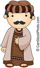 Arab - Illustration of a Man Dressed in an Arab Costume