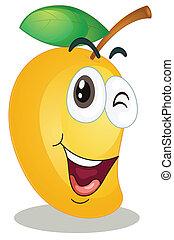 illustration of a mango on a white background