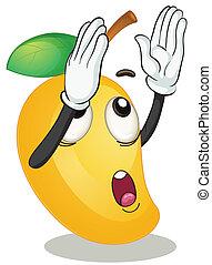 a mango - illustration of a mango on a white background