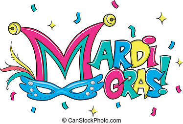 Mardi Gras - Illustration of a Mardi Gras Mask
