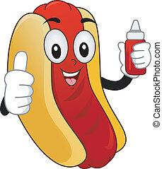 Mascot Hotdog Sandwich - Illustration of a Mascot Hotdog...