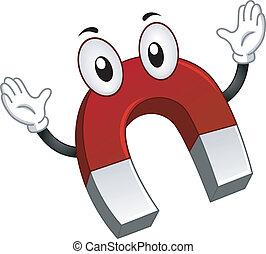 Illustration of a Mascot Magnet