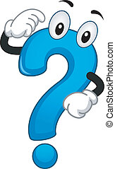 Mascot Question Mark - Illustration of a Mascot Question...