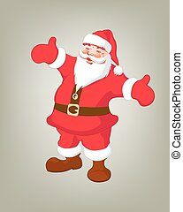 illustration of a merry Santa Claus - the illustration of a...