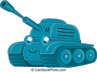 Tank - Illustration of a Military Tank