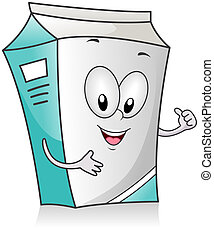 Milk Carton - Illustration of a Milk Carton Character