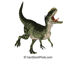 Monolophosaurus - Illustration of a Monolophosaurus...