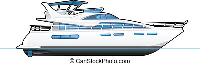 motor yacht - illustration of a motor yacht. Simple ...