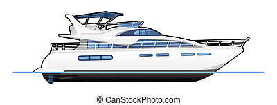 motor yacht - illustration of a motor yacht.