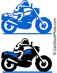 Illustration of a motorcycle racer