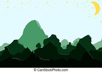 illustration of a mountain landscape.