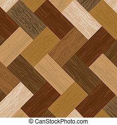 Illustration of a multicolored parquet board located chaotically