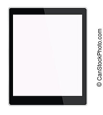 Illustration of a new tablet computer isolated on the white bac