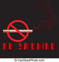 no-smoking - illustration of a no-smoking sign, warning, ...
