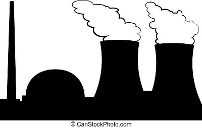 nuclear power plant - illustration of a nuclear power plant