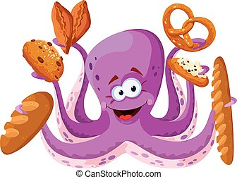 octopus with pastry