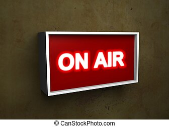On Air - Illustration of a On Air sign