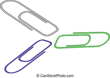Illustration of a paper clip on white