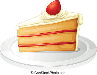 pastry - illustration of a pastry on a white background