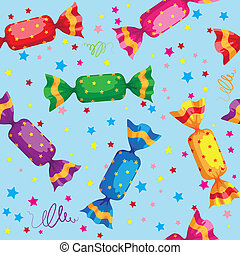 pattern cute sweets candy - illustration of a pattern cute ...