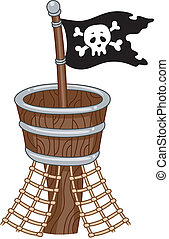 Pirate Flag - Illustration of a Pirate Flag
