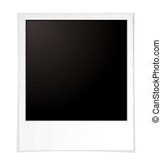 plain polaroid - Illustration of a plain polaroid with room...