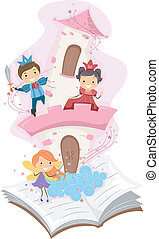 Pop Up Book - Illustration of a Pop Up Book with a Fancy ...