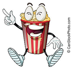 a popcorn - illustration of a popcorn on a white background