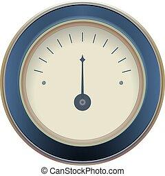 illustration of a pressure meter gauge Vector