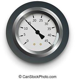 illustration of a pressure meter gauge
