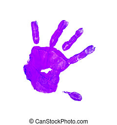 purple children hand print