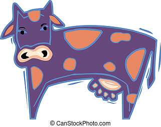 Illustration of a purple cow