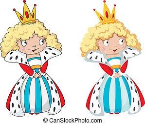 queen set - illustration of a queen set