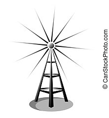 radio - Illustration of a radio antenna isolated on white ...