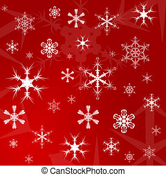 Christmas gift wrapping paper - Illustration of a red...