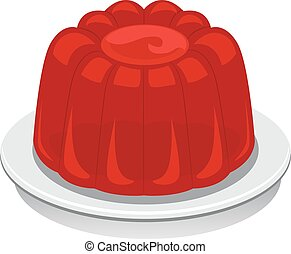 Illustration of a Red Jello
