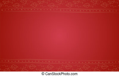 a red placemat - illustration of a red placemat