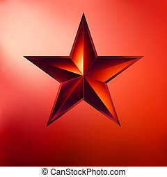 Illustration of a Red star on red. EPS 8