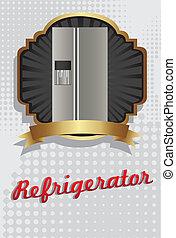Illustration of a refrigerator