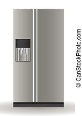 Illustration of a refrigerator, isolated on white background, vector illustration
