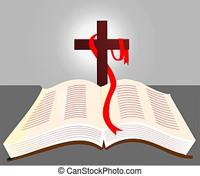 religious book  - Illustration of a religious book