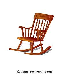 Illustration of a Rocking Chair. Isolated on White...