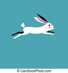 Illustration of a running hare