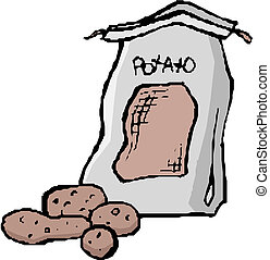 Illustration of a sack of potatoes