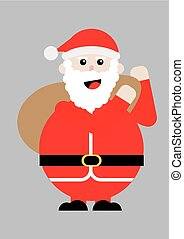 Illustration of a santa claus
