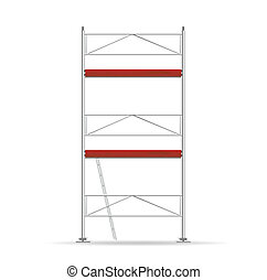 scaffolding - illustration of a scaffolding with three ...